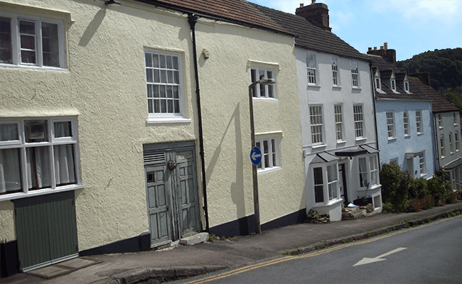 Terraced properties in Chipping Sodbury